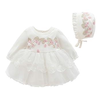 Asudaro Infantil Princesa Vestido de Tul Bebé Niña Manga Larga ...