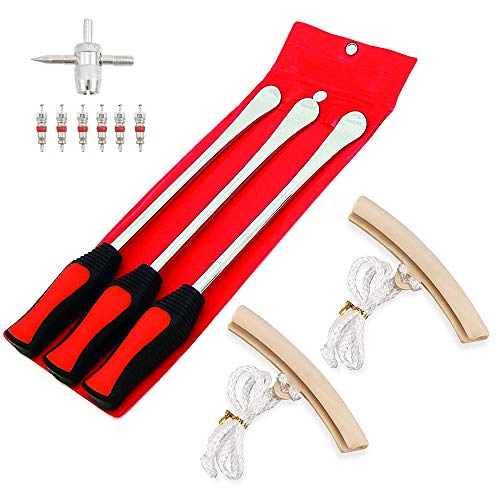 Rim Protectors Samman 14.5/'/' 11.5/'/' 10/'/' Tire Changer Spoon Lever Iron Tool Kit Perfect Leverage for Bike Motorcycle Professional Changing Kit