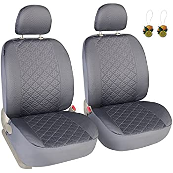 Leader Accessories Auto Universal Car Seat Covers 2 Fronts Grey