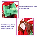 Youbedo Dog Christmas Costume - Pet Dog Cat Christmas Dress Up Cosplay Santa with Gift Bag on Back Fancy Puppy Apparel