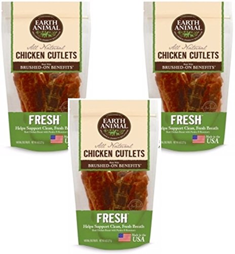 Image of Earth Animal Fresh Breath Treats - 8oz Each (3 Pack)