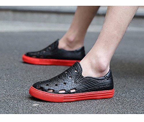 Sommer Atmungsaktiv Männer Schuh Sandalen Männer Loch Schuh Trend Strand Schuh Männer ,schwarz,US=6.5,UK=6,EU=39 1/3,CN=39