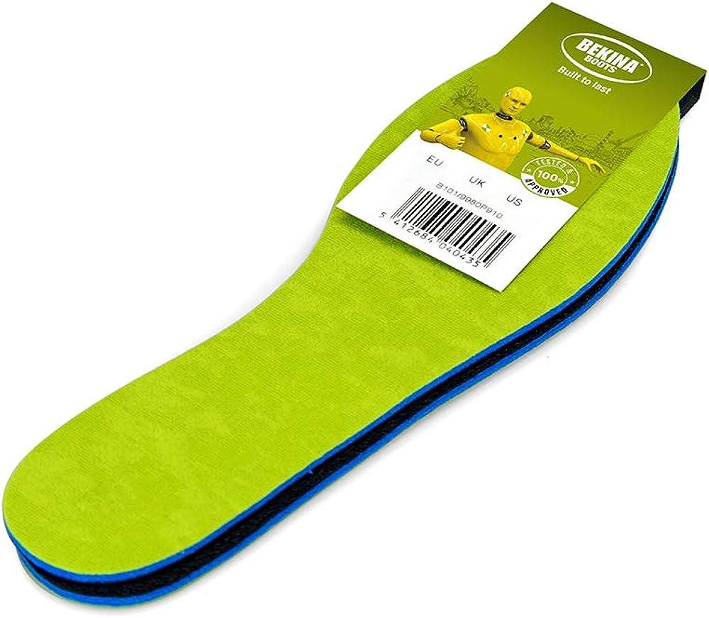 pies Anti-Sudor Plantillas para Botas de Trabajo con absorci/ón de Impactos Lavables tama/ño 36 3 ply para Mayor Comodidad