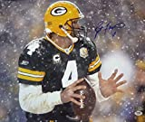 Brett Favre Autographed Green Bay Packers 16x20 Photo (Horizontal Snow) w/PSA ITP