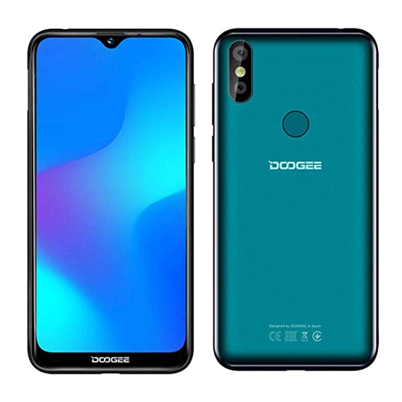 DOOGEE Y8 6 1 Inch HD Waterdrop Screen Android 9 0 3GB RAM 16GB ROM MT6739  Quad Core 4G Smartphone - Luminous Black