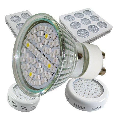 3 Watt LED Spot GU10 Pflanzenleuchte Wuchs und Blüte Grow Anzucht