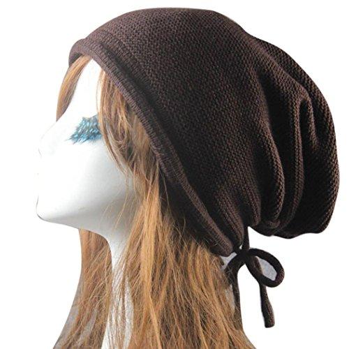 Iuhan Knit Winter Warm Women Men Hip-Hop Bandage Beanie Hat Baggy Unisex Ski Cap (Coffee) - Old Man Fisherman Costume