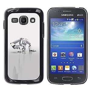 """For Samsung Galaxy Ace 3 , S-type Robot Blanca"""" - Arte & diseño plástico duro Fundas Cover Cubre Hard Case Cover"""