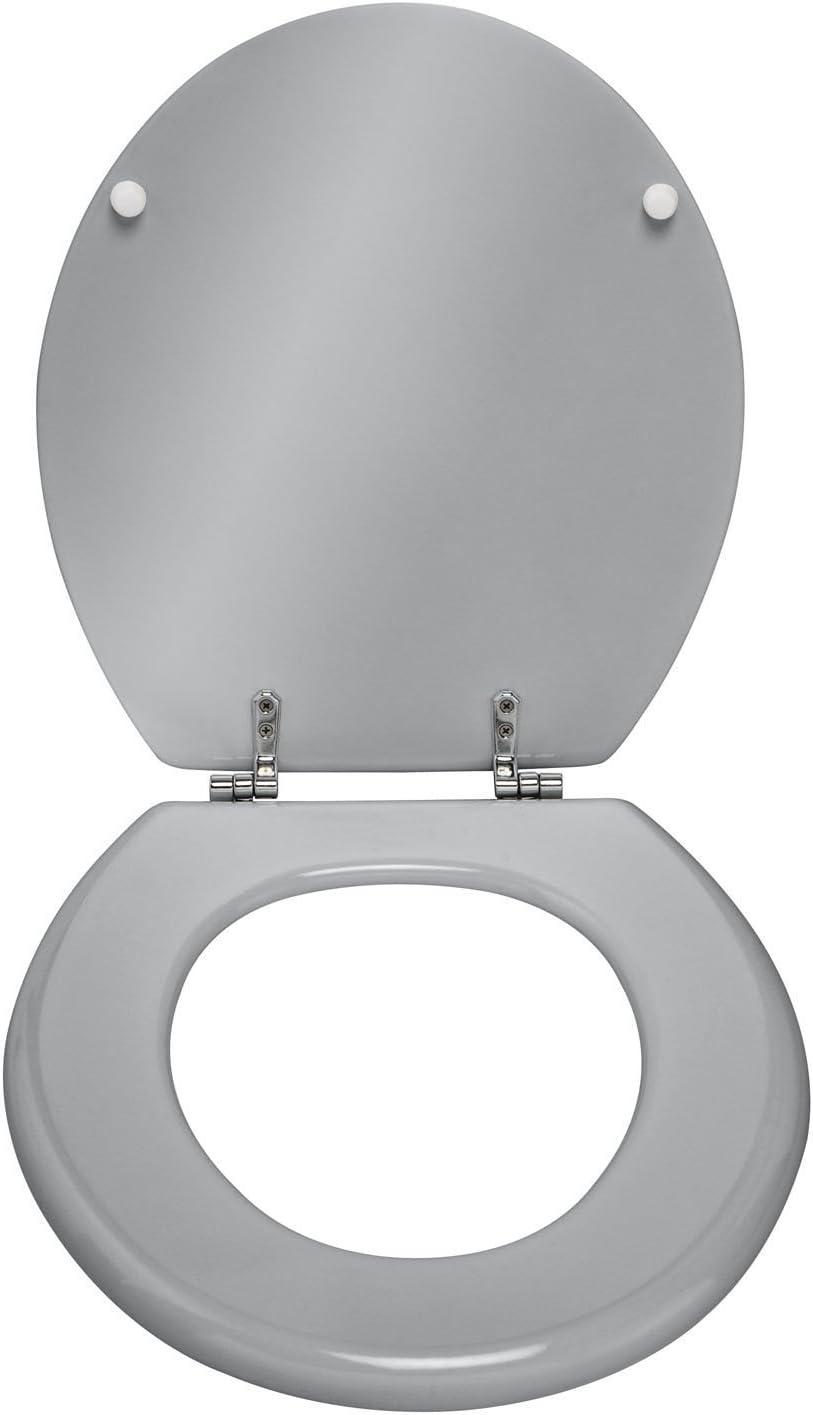 Dim PEGANE Abattant WC Prima Coloris Argent/é 37 x 41 cm