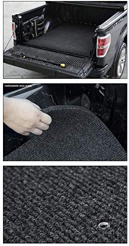 69.6 Topline Autopart Black Polyester Truck Bed Floor Mat For 04-06 Chevy Silverado//GMC Sierra 1500//2500 07 Classic Body 5.8 Feet HD Short Bed 3500