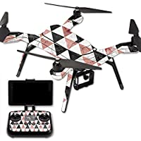 MightySkins Protective Vinyl Skin Decal for 3DR Solo Drone Quadcopter wrap cover sticker skins Marble Pyramids