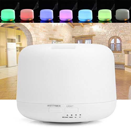 LED Air Diffuser Purifier Atomizer Ultrasonic Aroma Cool Mist Humidifier Night - Outlet Long Malls Island