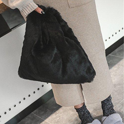 Marr¨®n Felpa Moda Negro Ourbag Bolso De Mujer Lindo XZUZYOqS
