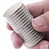 """DIYMAG 15pcs 1.26""""D x 0.08""""H Powerful Neodymium Disc Magnets, Strong, Permanent, Rare Earth Magnets, Fridge, DIY, Building, Scientific, Craft, and Office Magnets,"""