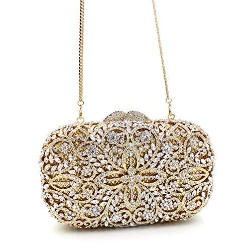 creuse Bag sac main Mageleo strass en cristal Sac en sac de clouté soirée métal HpYqCpx