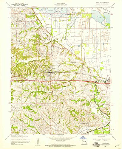 O Fallon MO topo map, 1:24000 Scale, 7.5 X 7.5 Minute, Historical, 1954, Updated 1959, 26.8 x 21.9 in - Polypropylene -