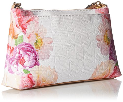 Emboss Printed Calvin Floral Crossbody Textured White Flower Klein fIqHwqxBS