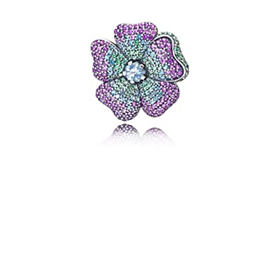 e39f2c8c1 Amazon.com: PANDORA Glorious Bloom Pendant And Brooch, 397081NRPMX ...