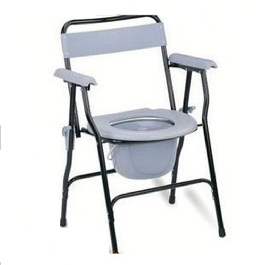 トイレの椅子、折りたたみ式老人を移動することができます妊婦Commode浴室シャワーチェア B078YJVYK9