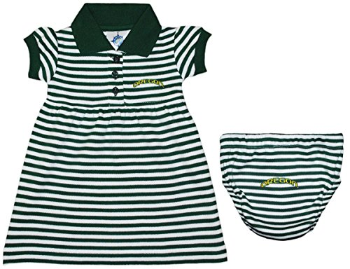 Oregon Ducks Arched Oregon Baby Game Day Dress w/Bloomers -