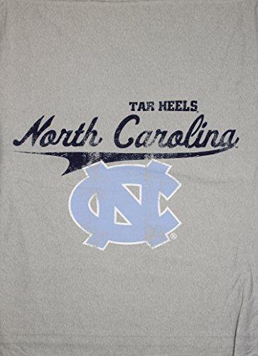 University of North Carolina at Chapel Hill UNC Tarheels NCAA Sweatshirt Throw Blanket, Grey