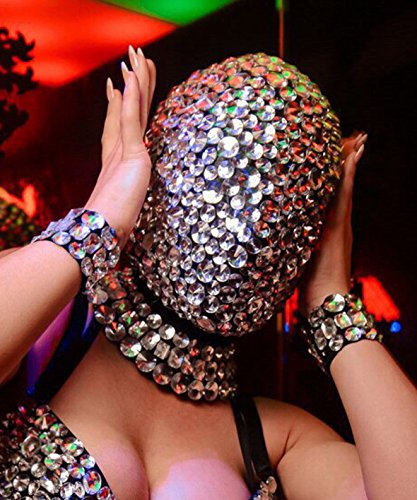 Mask In Rhinestones, Rave Mask, Festival Mask, Party Mask, Rave Clothing, Face Mask, Steampunk Mask, Fetish Mask, Cyberpunk, EDC, EDM, Masks, Party Mask, Sexy Mask, Masquerade Mask, Fashion Mask by AmnesiaShop