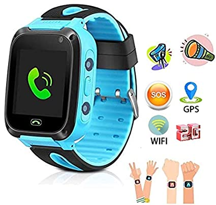 SeTracker Kids Micro Sim Card Support Smart Phone Control Smartwatch with  GPS, WiFi, Tracker, SOS Call, Touch Screen, Camera, Flashlight for Android,