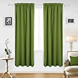 bright green thermal curtains - Deconovo Green Blackout Curtains Rod Pocket Curtains Thermal Window Treatments Curtains for Nursery Grass Green 42W x 84L Inch 2 Panels