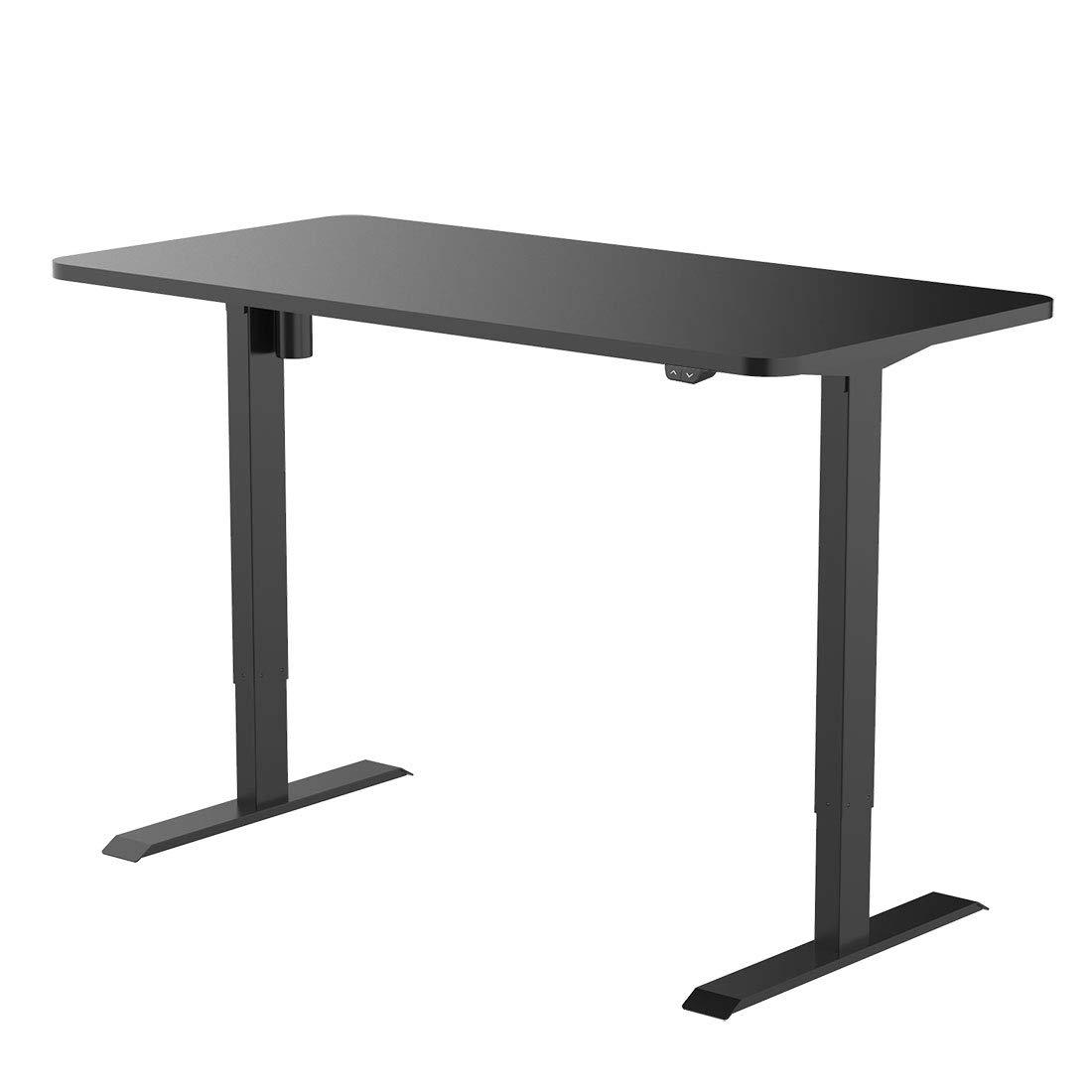 Flexispot EC1B-R4830B Height Adjustable Desk Frame Electric Sit Stand Desk Base Home Office Table Standing Desk (Black Frame + 48 in Blacktop)
