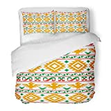 SanChic Duvet Cover Set Blue Pattern Pixel Aztecs Colorful Southwest Abstract Africa Decorative Bedding Set with 2 Pillow Shams King Size