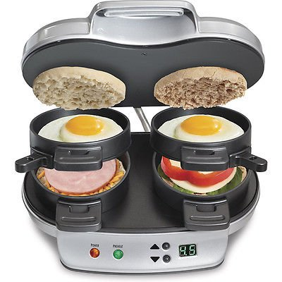 Hamilton Beach 25490 Dual Breakfast Sandwich Maker (Rival Toaster Oven Parts compare prices)