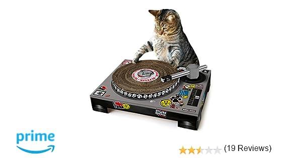 SUCK UK SK CATDECK1 Rascador Tocadiscos para Gatos, Multicolour ...