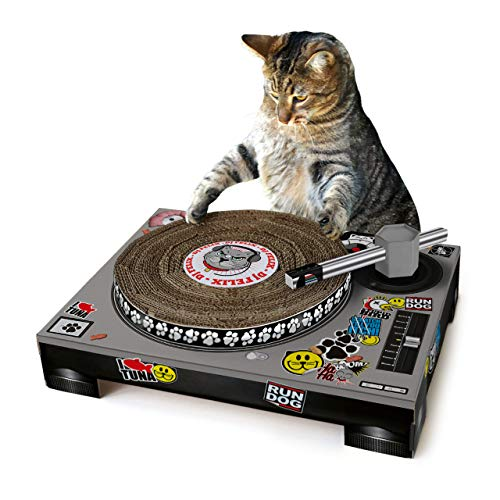 (SUCK UK - CAT TOYS | PET CARDBOARD TURNTABLE & DJ MIXER | )