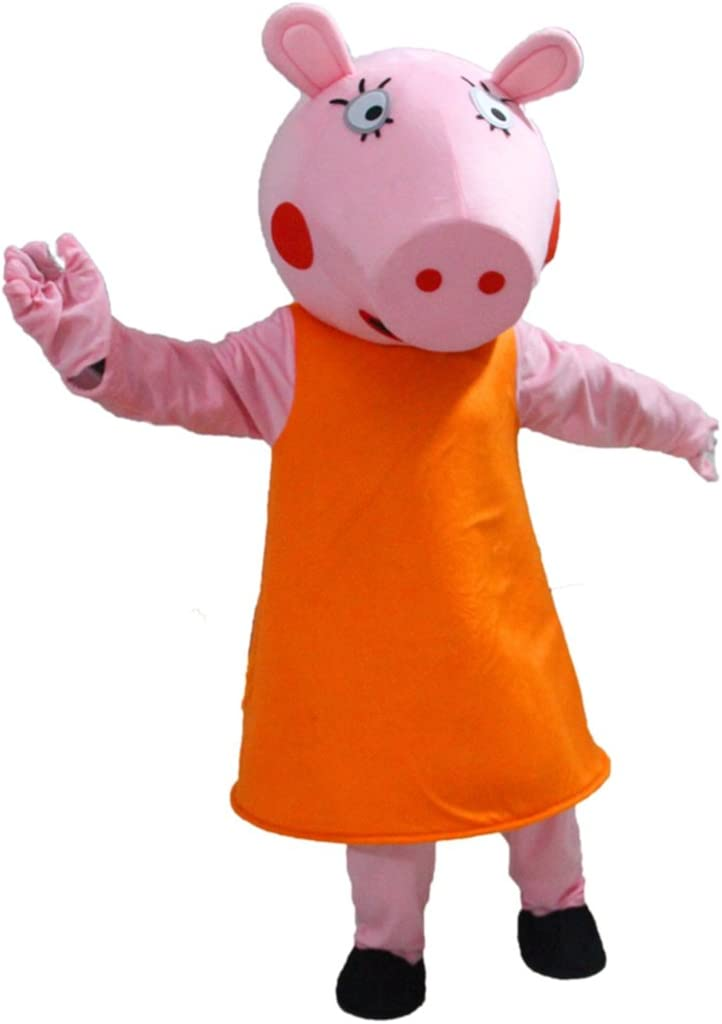 Mamá Pig, de dibujos animados Peppa Pig, diseño de mascota disfraz ...