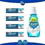 Crest Pro Salud Advanced Pasta Dental, 4 piezas de 120 ml c/u + Enjuague Bucal Oral-B Pro Salud Sabor Menta, 500 ml