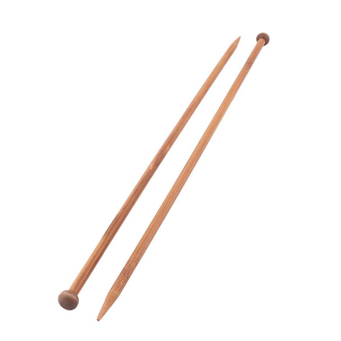 uxcell Bamboo Home Bedroom Handmade DIY Gloves Socks Knitting Braided Needles 10mm Dia 2 Pcs a17070300ux0855