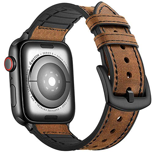 Mifa Hybrid Leather Sports Band Compatible with Apple Watch Vintage