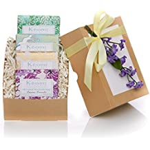 ORGANIC HANDMADE SOAP GIFT SET - Gift Boxed & Ready to Give - Scented w/100% Pure Essential Oils - PAMPER THEM w/LUXURY WHILE LIFTING THEIR SPIRITS