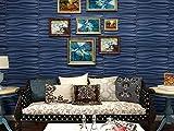 Art3d 3D Wall Panel PVC 3D Textured Panel Wavy