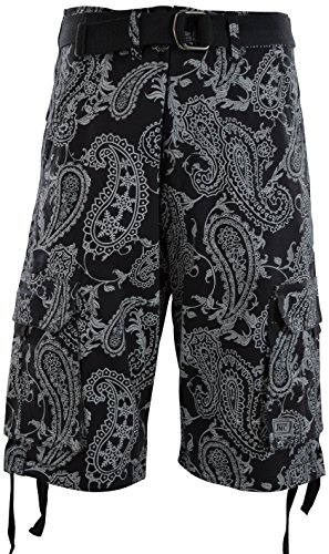 ChoiceApparel Mens Cargo Shorts with Belt (34, - Belted Paisley Belt