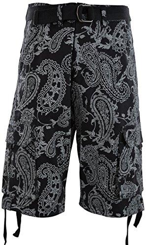 ChoiceApparel Mens Cargo Shorts with Belt (42, JMC-Charcoal)