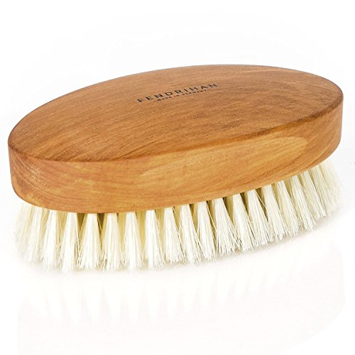 (Fendrihan Genuine Boar Bristle and Pear Wood Military Hair Brush, Made in Germany VERY-SOFT LIGHT BRISTLE)