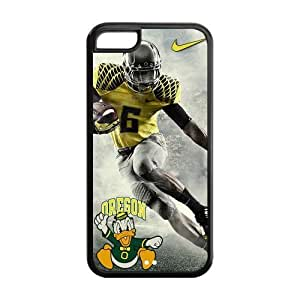 NCAA Oregon Ducks Logo Green and Yellow Iphone 5c Hard Case Cover at NewOne hjbrhga1544