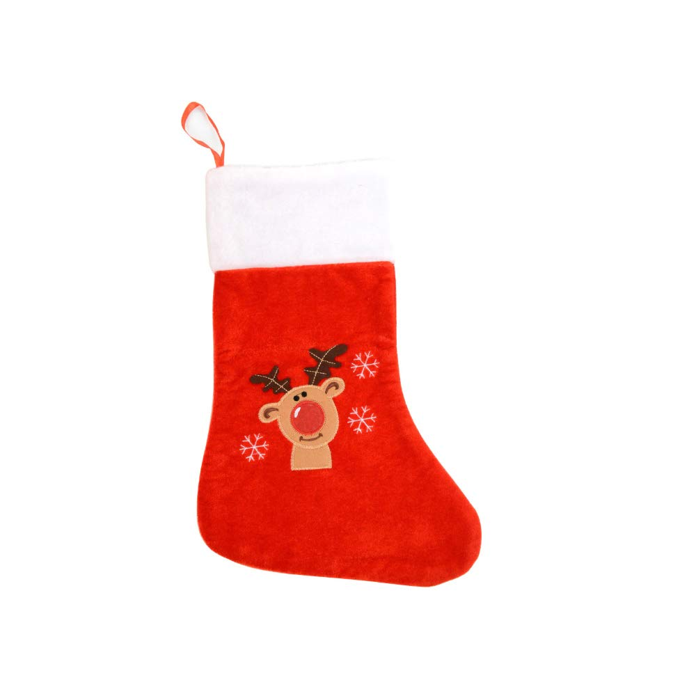 DISURO Red Reindeer Christmas Theme Full Size Stockings
