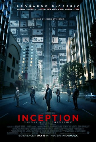 Click for larger image of Inception Final Movie Poster Double Sided Original 27x40
