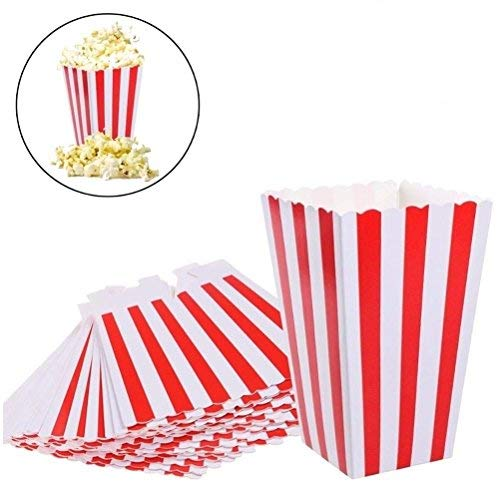 Bag Circus Slumber - Eshylala Popcorn Boxes Bags Paper Candy Popcorn Container Food Favor Bags for Party Favor Supplies, Pack of 24
