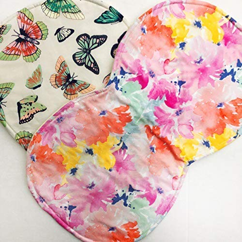 Baby Burp Cloth,Burp Cloth Girl,Contoured Burp Rags,Burp Cloth Set,Burp Clothes,Floral Baby Gift,2 pack or 3pack Set