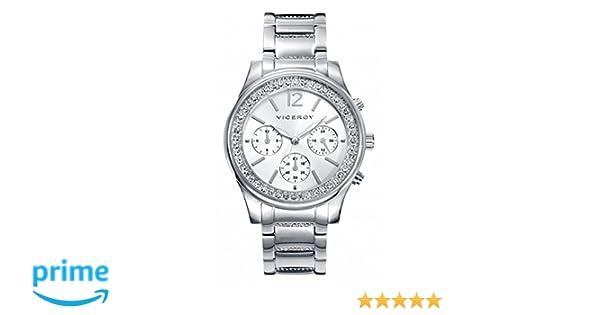 Viceroy Reloj Multiesfera para Mujer de Cuarzo con Correa en Acero Inoxidable 40848-85: Amazon.es: Relojes