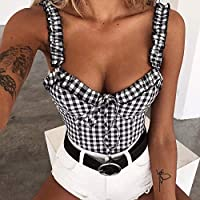 UK Womens Boob Bralet Cami Vest Casual Crop Top Tank Tops T-Shirt Blouse Shirt