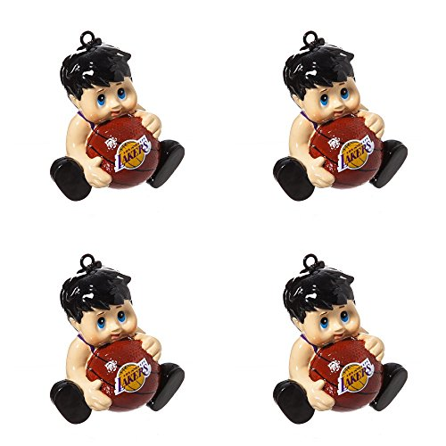NBA Los Angeles Lakers Lil Fan Team Christmas Ornament Bundle 4 Pack By Evergreen by Forever Collectibles